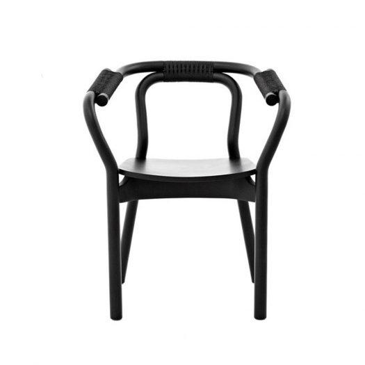 Knot Armchair Black and Black