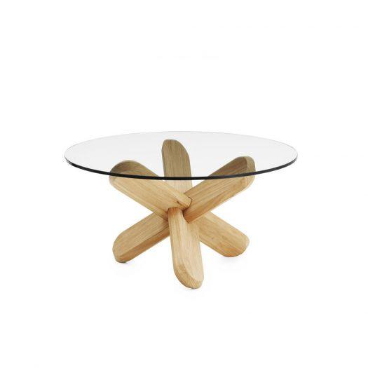 Ding Table Glass/Oak