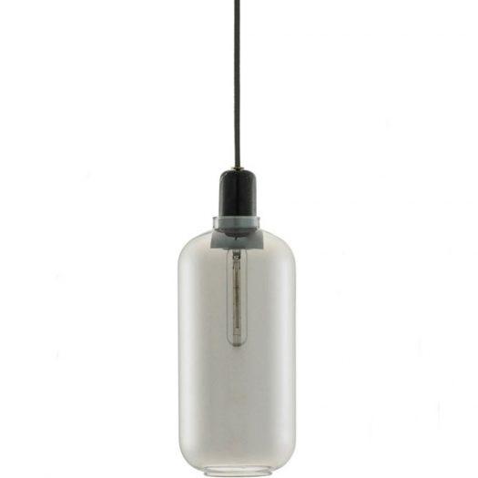 Amp Glass and Marble Light Large Smoke Black