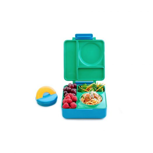 OmieBox Kids Bento Lunch Box with Insulated Thermos, Meadow