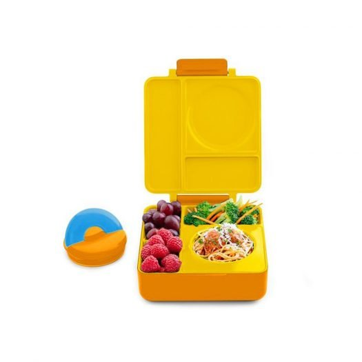 OmieBox Kids Bento Lunch Box with Insulated Thermos, Sunshine
