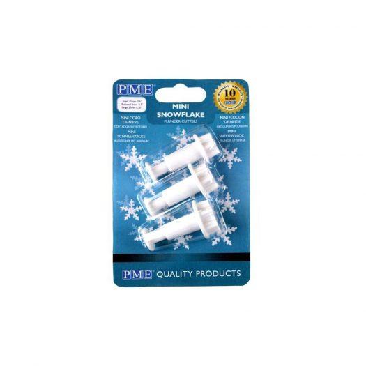 Mini Snowflake Plunger Cutter, 3-piece Set