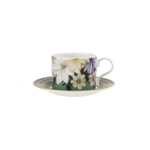 Atrium Floral Teacup & Saucer 280ml