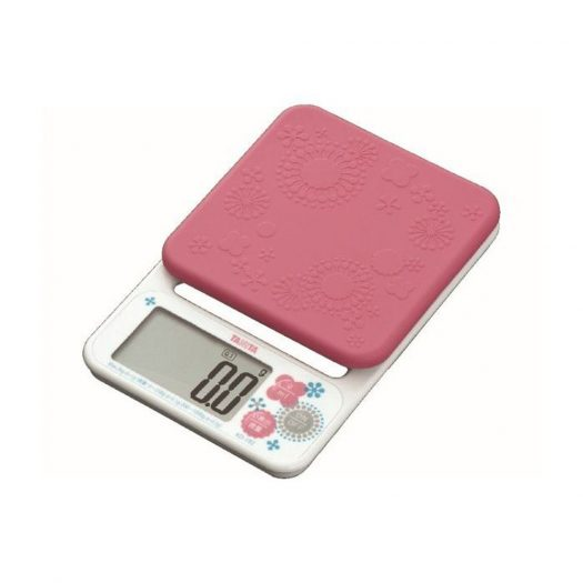Pink Kitchen Scale with Removable Cover, 2kg