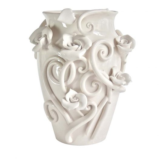 Roses & Thorns Vase The White Symphony Collection