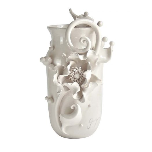 The White Poppy Vase The White Symphony Collection