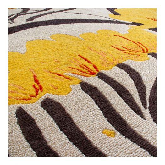 Valparaise Yellow Semi Worsted Carpet by René Gruau