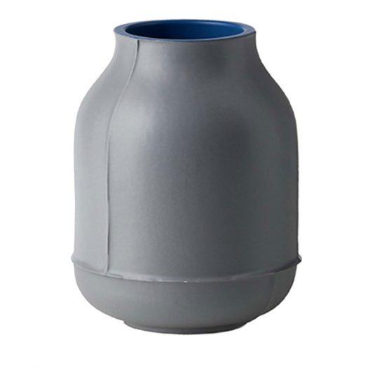 Small Gray Barrel Vase by Benjamin Hubert