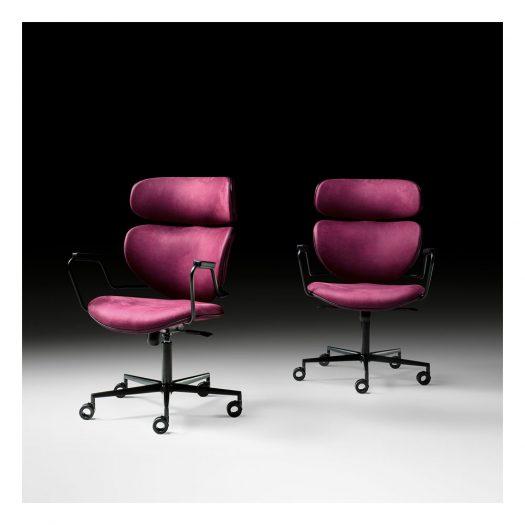 Asia Purple Swivel Chair