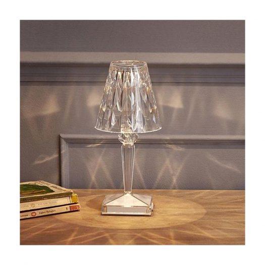 Battery LED Table Light Crystal