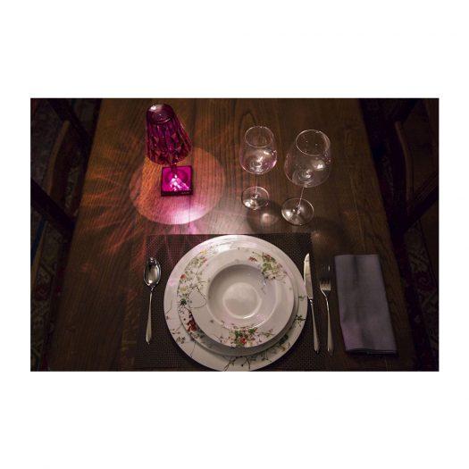 Battery LED Table Light Plum