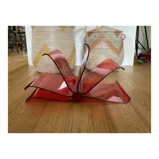 Front Page Magazine Rack Transparent Red