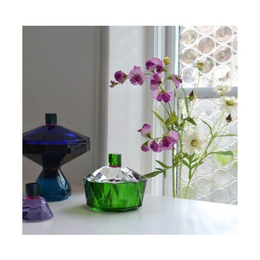 New Haven Basin Clear/Green/Fuchsia