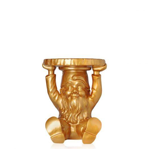 Philippe Starck Attila Gnome Stool Table Gold