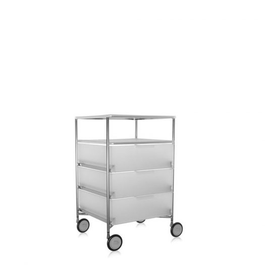 Mobil Container 3 Drawers with Shelf with Wheels