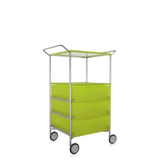 Mobil Container Handles 3 Drawers with Shelf and Wheels