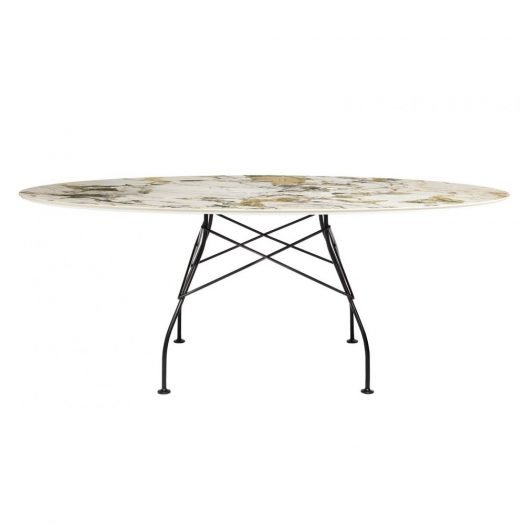 Oval Glossy Table