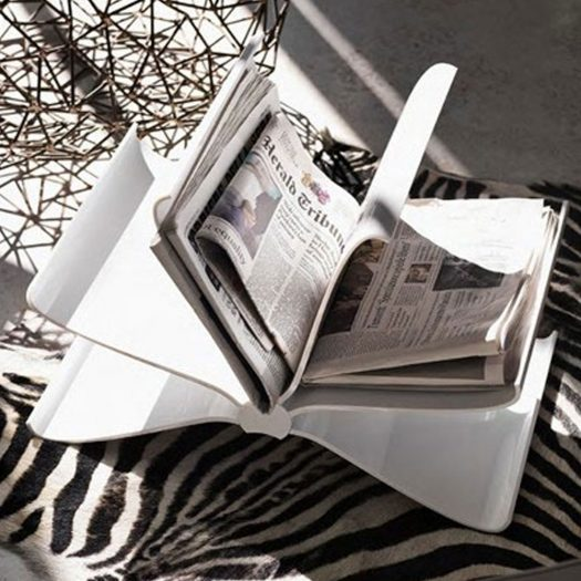 Front Page Magazine Rack White