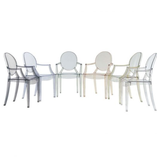 Louis Ghost Armchair 4pcs Philippe Starck