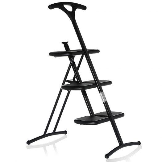Tiramisu Folding Step Ladder Black
