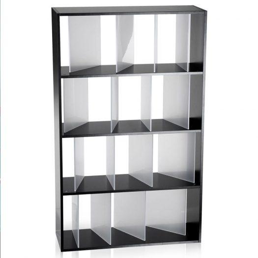 Nendo Sundial Black Bookcase Satin Finish Dividers