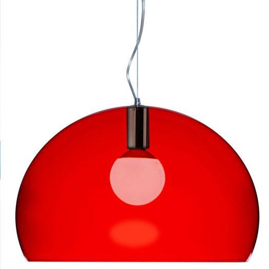 Ferruccio Laviani FLY Suspension Light, Red