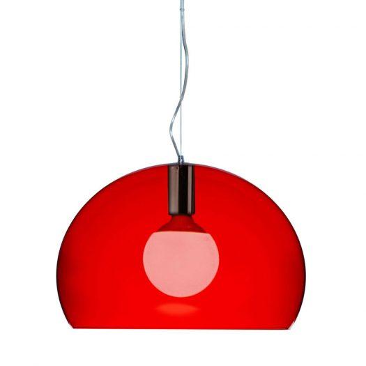 Ferruccio Laviani – Small FLY Suspension Light Red