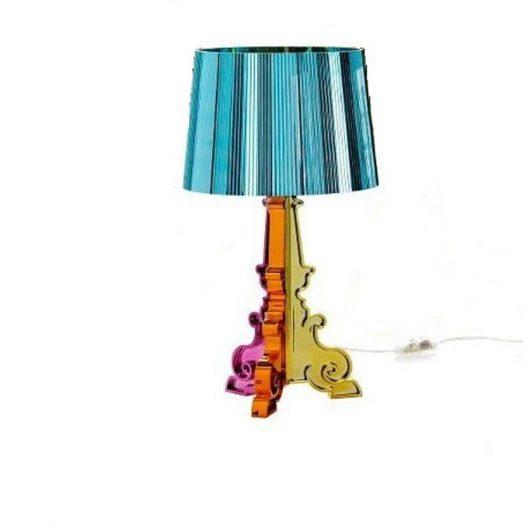 Metallic Bourgie Lamp Multicoloured Light Blue