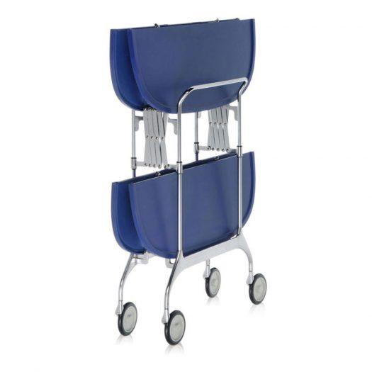 Gastone Folding Trolley Sea Blue