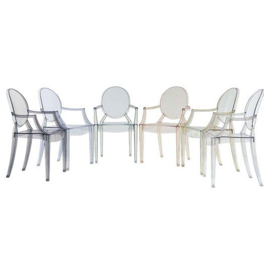 Louis Ghost Armchair 4pcs Philippe Starck