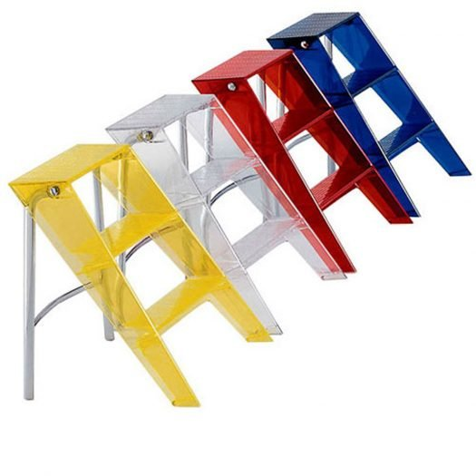 Upper Folding Step Ladder Orange Red