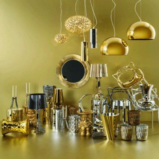 Battery LED Table Light Metallic Gold