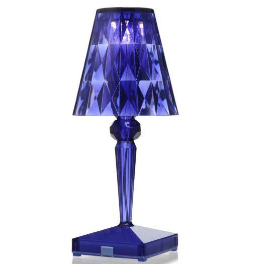 Battery LED Table Light Blue