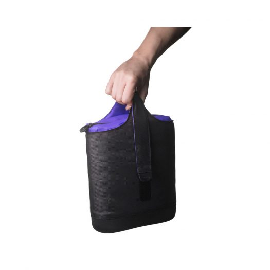 Cool Lunch Bag Black & Purple