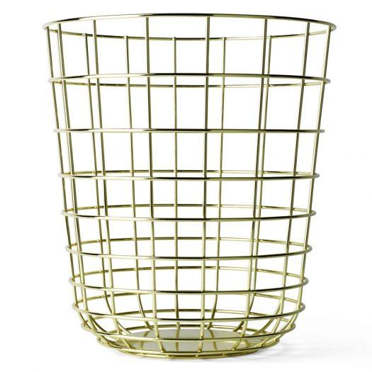 Wire Bin Brass