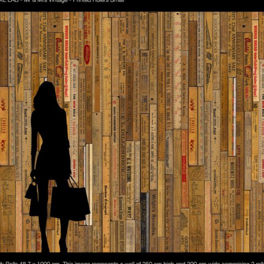 Small Printed Rulers Wallpaper MRV 05