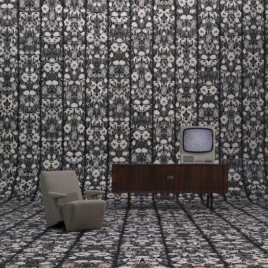 Studio Job – Withered Flowers Black Wallpaper