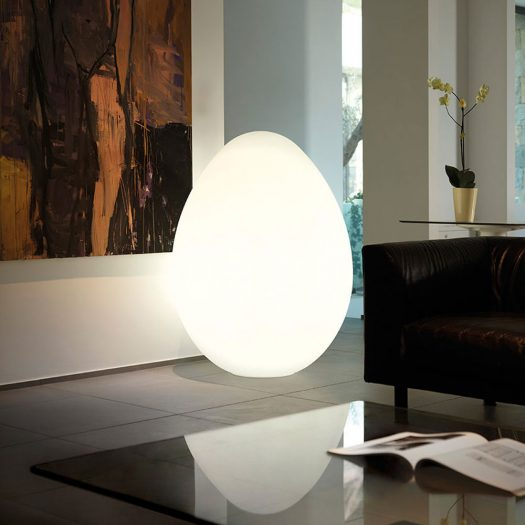 Dino Oversize Egg Floor Light 160cm, ⌀117cm – LED RGBW