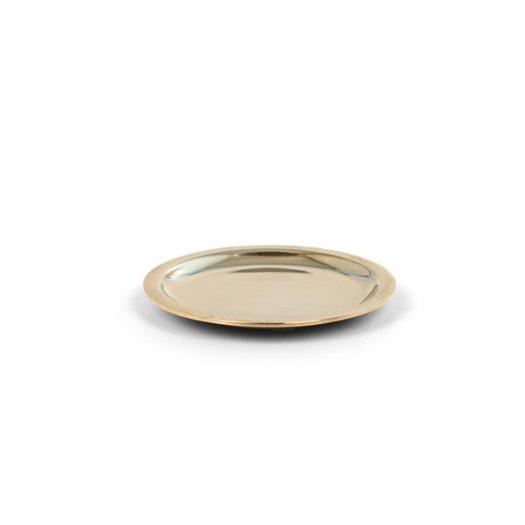 Chrome Round Soap Dish Gold