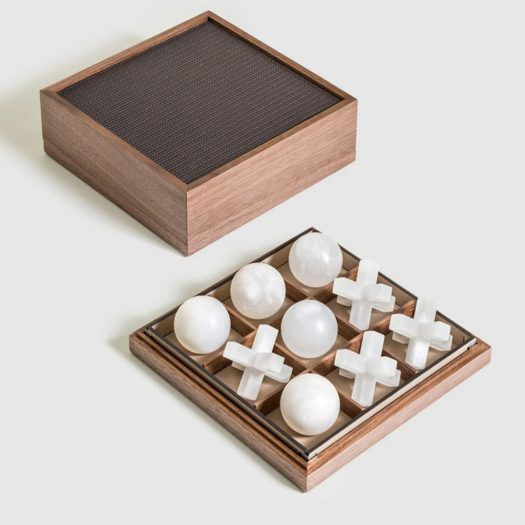 Tic Tac Toe with Alabaster Pieces