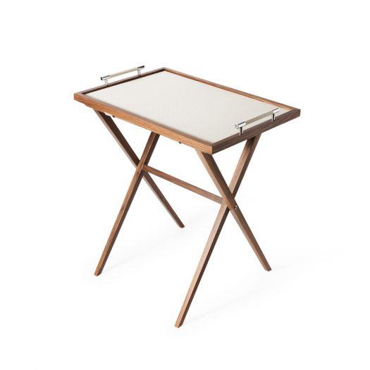 Dedalo Tall Wallnut Table