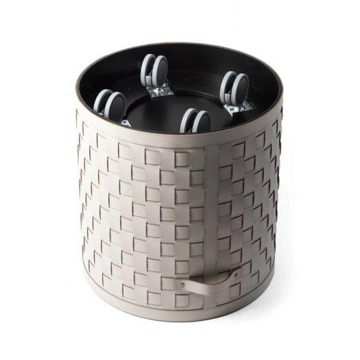 Demetra Round Basket With wheels