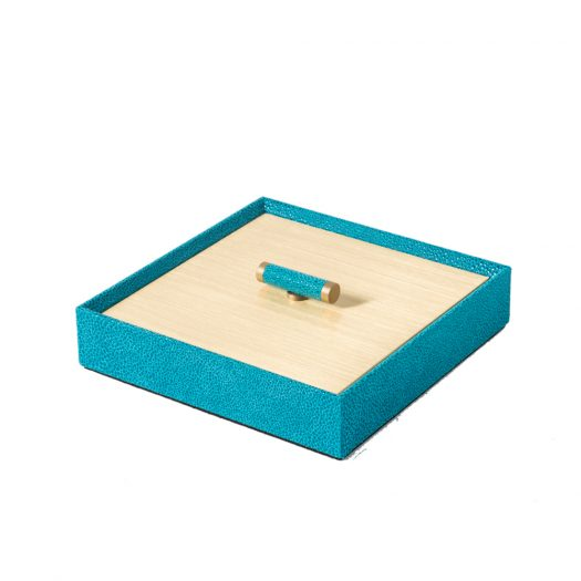 Iside Square Box with Gold Lid
