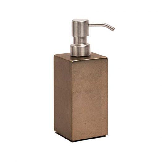 Kensington Soap Dispenser in Silver Leaf Matte Taupe