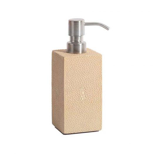 Chelsea Soap Dispenser in Faux Skin Shagreen Natural