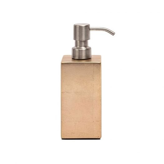 Kensington Soap Dispenser in Silver Leaf Matte Champagne