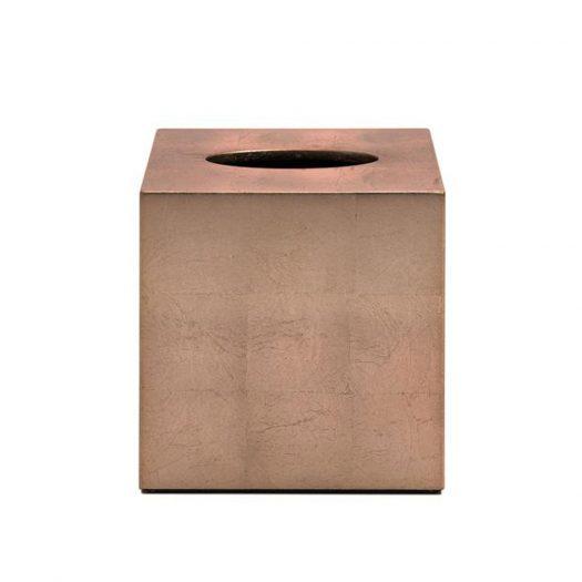 Kensington Square Tissue Box  in Silver Leaf Matte Taupe