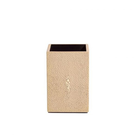 Chelsea Toothbrush Holder   in Faux Skin Shagreen Natural