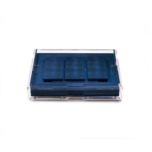 Grand Matbox Clear Silver Leaf Matte Blue