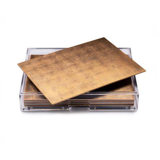Grand Matbox Clear Silver Leaf Matte Gold